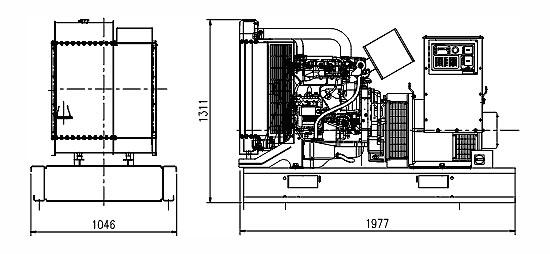 Дизельная электростанция Cummins C110 (80кВт), контейнер Север, автозапуск