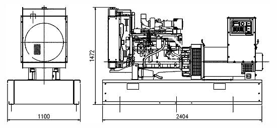"""Дизельгенератор Cummins C150D5, контейнер """"СЕВЕР"""", автоматика, шасси."""