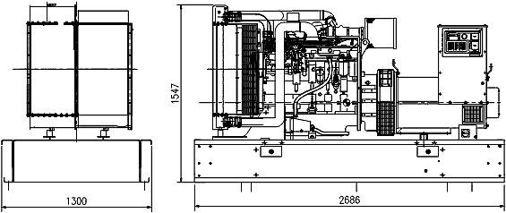 """Дизельгенератор Cummins C250 (200 кВт), контейнер """"Север"""", автоматика, АВР, ПЖД."""